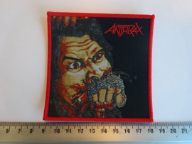 ANTHRAX - FISTFUL OF METAL ( RED BORDER ) WOVEN
