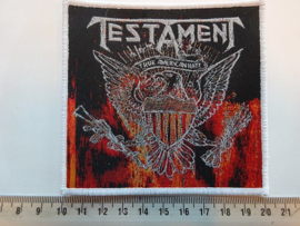TESTAMENT - TRUE AMERICAN HATE ( WHITE BORDER ) WOVEN