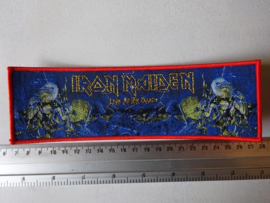 IRON MAIDEN - LIVE AFTER DEATH (STRIPE) RED BORDER