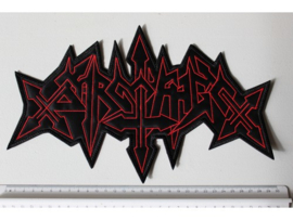 SARCOFAGO - RED/BLACK NAME LOGO