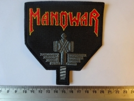 MANOWAR - RED/WHITE LOGO + GREY HAMMER