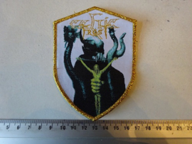 CELTIC FROST - TO MEGA THERION ( GOLD GLITTER BORDER ) WOVEN, LAST COPY