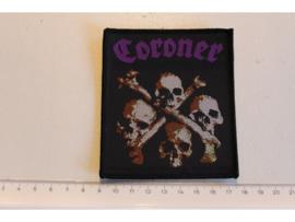 CORONER - DEATH CULT ( BLACK BORDER ) WOVEN