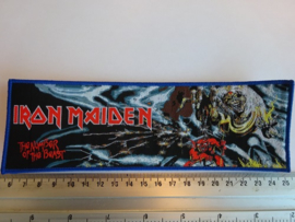 IRON MAIDEN - THE NUMBER OF THE BEAST  ( BLUE BORDER ) WOVEN STRIPE