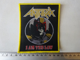 ANTHRAX - IAM THE LAW ( WOVEN YELLOW BORDER )