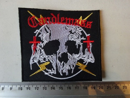 CANDLEMASS - RED NAME + SKULL