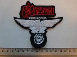 SAXON - WHEELS OF STEEL ( WHITE )