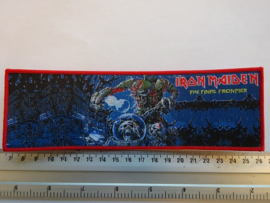 IRON MAIDEN - THE FINAL FRONTIER ( RED BORDER ) WOVEN