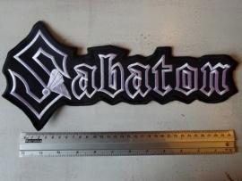 SABATON - BLACK/WHITE LOGO ( 35 CM )