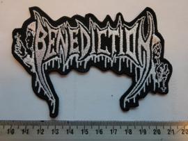 BENEDICTION - WHITE NAME LOGO