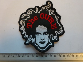 THE CURE - RED NAME LOGO + ROBERT SMITH