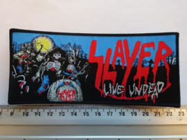 SLAYER - LIVE UNDEAD ( BLACK BORDER ) WOVEN