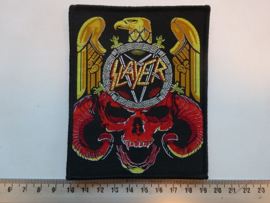 SLAYER - EAGLE/SKULL ( BLACK BORDER ) WOVEN