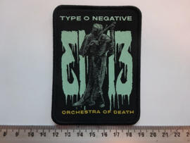 TYPE O NEGATIVE - ORCHESTRA OF DEATH ( BLACK BORDER ) WOVEN