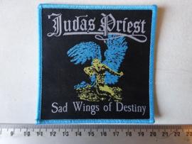 JUDAS PRIEST - SAD WINGS OF DESTINY  ( BLUE BORDER ) WOVEN