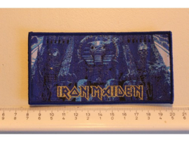 IRON MAIDEN - POWERSLAVE ( BLUE BORDER ) WOVEN
