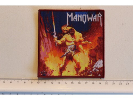 MANOWAR - LIVE AT MONSTERS OF ROCK ( RED BORDER ) WOVEN