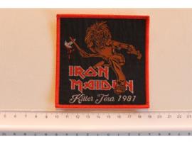 IRON MAIDEN - KILLER TOUR 1981 ( RED BORDER ) WOVEN
