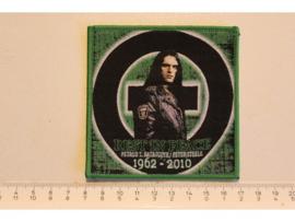 TYPE O NEGATIVE - REST IN PAECE 1962 - 2010 ( GREEN BORDER ) WOVEN