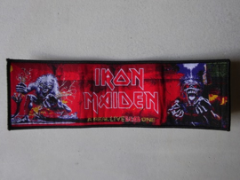 IRON MAIDEN - A REAL LIVE DEAD ONE STRIPE (WOVEN) BLACK BORDER