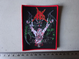 DARK ANGEL - LEAVE SCARS ( RED BORDER ) WOVEN