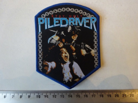 PILEDRIVER - STAY UGLY ( BLUE BORDER ) WOVEN