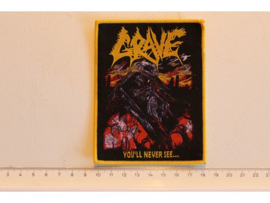 GRAVE - YOU'LL NEVER SEE... ( YELLOW BORDER ) WOVEN
