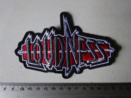 LOUDNESS - BLACK/RED/WHITE LOGO