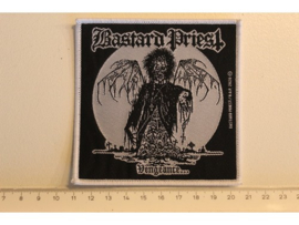 BASTARD PRIEST - VENGEANCE ( WHITE BORDER ) WOVEN