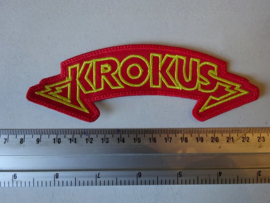 KROKUS - YELLOW/RED NAME LOGO ( DIFFERENT )