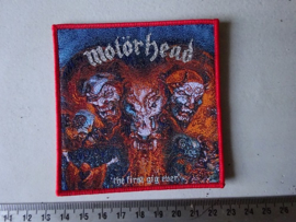 MOTORHEAD - THE FIRST GIG EVER ( RED BORDER ) WOVEN