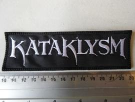 KATAKLYSM - WHITE LOGO ( OLD LOGO ) ( UNCUT )