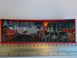 IRON MAIDEN - A MATTER OF LIFE AND DEATH ( RED BORDER ) WOVEN STRIPE