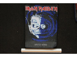 IRON MAIDEN - WASTED YEARS ( BLACK BORDER ) WOVEN