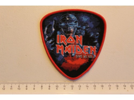 IRON MAIDEN - GIVE ME ED.. ( RED BORDER ) WOVEN