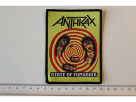 ANTHRAX - STATE OF EUPHORIA ( BLACK BORDER  ) WOVEN