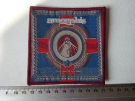AMORPHIS - DEATH OF A KING (  RED BORDER ) WOVEN