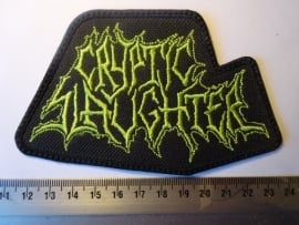 CRYPTIC SLAUGHTER - GREEN LOGO