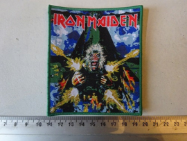 IRON MAIDEN - TAILGUNNER GREEN BORDER LIMITED (WOVEN) NUMBERD