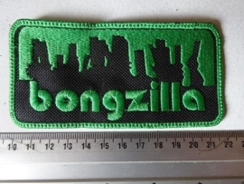 BONGZILLA - GREEN NAME LOGO