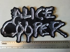 ALICE COOPER - WHITE/GREY LOGO