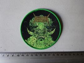 NUCLEAR ASSAULT - DEMON ( GREEN BORDER ) WOVEN