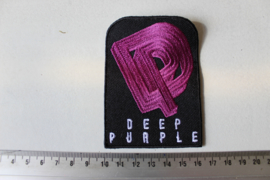 DEEP PURPLE - WHITE NAME LOGO + PURPLE DP