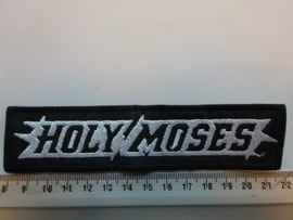 HOLY MOSES - WHITE/BLACK NAME LOGO
