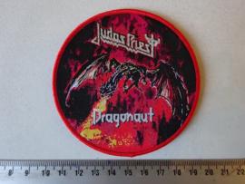 JUDAS PRIEST - DRAGONAUT ( RED BORDER ) WOVEN