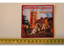 WITCHFINDER GENERAL - FRIENDS OF HELL ( RED BORDER ) WOVEN