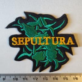 SEPULTURA - GREEN S LOGO + NAME