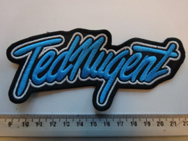TED NUGENT - BLUE/WHITE NAME LOGO