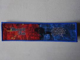 MERCYFULL FATE/KING DIAMOND - STRIPE (WOVEN) BLUE BORDER