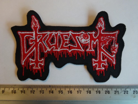 GRUESOME - RED/WHITE NAME LOGO
